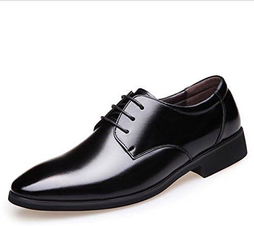2018 Zapatos de Cuero para Hombres nuevos Zapatos de Trabajo para Hombres de Oficina Zapatos de Cuero con Cordones...