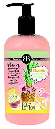 Bettina Barty Pineapple Vanilla Cupcake Hand & Body Lotion, 1er Pack(1 x 500 ml) - Vanille Cupcake Körper