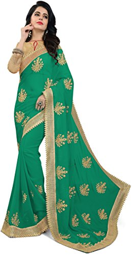Aneeka Fashion Pink Gajari, Navy Blue, Green And Red Color Georgette Fabric...