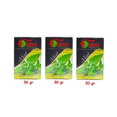 150 gr de melazaTanya, menta - 100% natural - sin tabaco y sin nicotina, Shisha Narguila narguile. Está...
