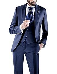 Suit Me adaptarse adaptada de los hombre s 3 piezas de juego de los caballeros de Negocios para fiesta de la boda chaqueta de traje, chaleco, pantalones