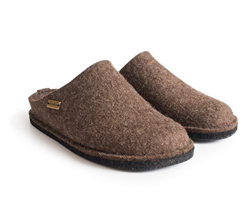 Haflinger Unisex-Erwachsene Flair Soft Pantoffeln, Braun (Schoko 552), 46 EU
