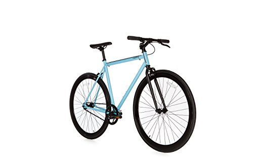 Fixie Bicicletta, Fixed & Gear Single Speed, Blu