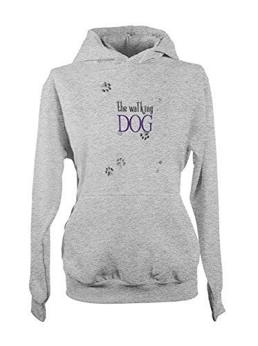 The Walkign Dog Femme Capuche Sweatshirt Gris