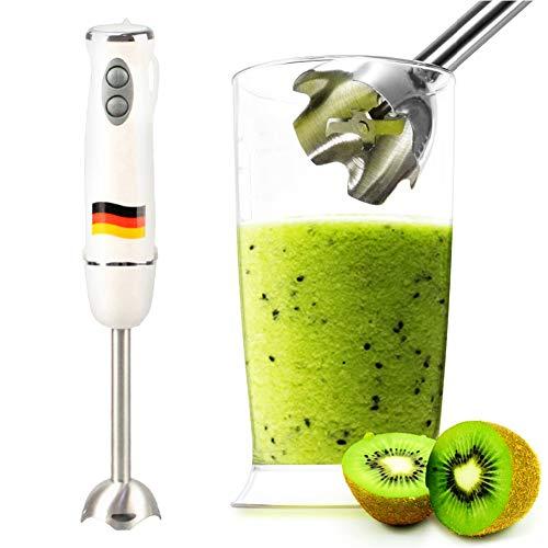 YSoutstripdu Electric Hand Blender Immersion Kitchen Food Processor Stick Chopper Whisk Electric Mixer - EU Plug White