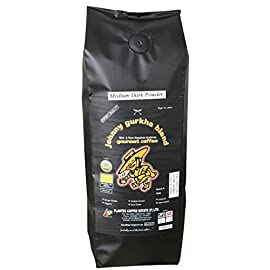 100% Arabica Gourmet Organic Ground Coffee Medium Dark Roast – Johnny Gurkha Blend (500 g)