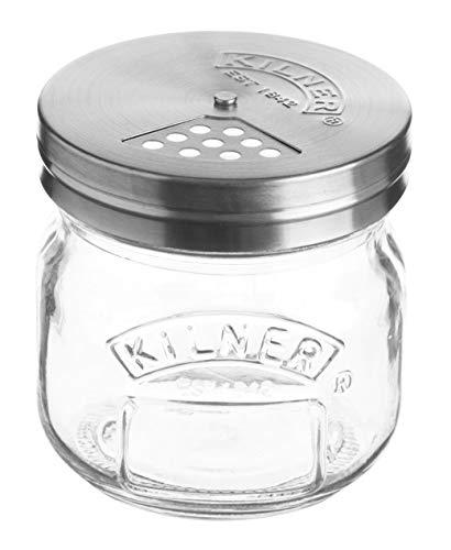 Kilner Streudose 250 ml - Vintage-Stil, Gewürzstreuer für Parmesankäse, Kräuter und Gewürze, Glas, Lime, 0.25L