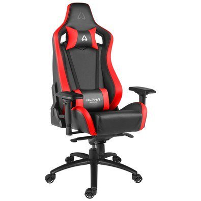 Alpha Gamer Polaris Racing Gaming Chair Spielsitz, schwarz/rot