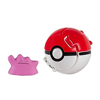 Lively Moments Throw n Pop Pokeball/Pokemon/Pokemonfigur Ditto/Métamorph mit Pokeball