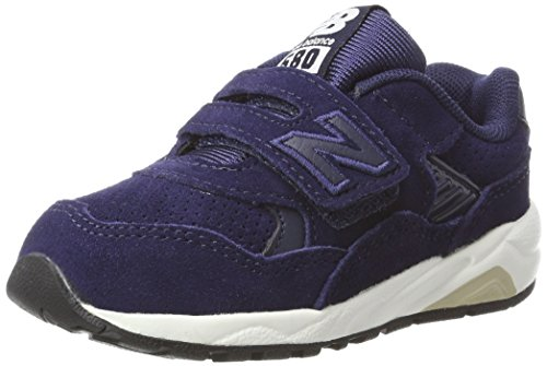 New Balance Unisex-Kinder Sneaker, Blau (Navy/White), 25 EU (7.5 UK Child) (Baby Mädchen Turnschuhe New Balance)