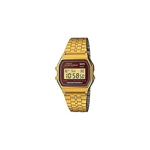 Casio Herren Digital mit Edelstahl Armbanduhr A159WGEA5EF