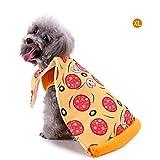 īBaste Pet Cloak,Pet Christmas Creative Delicious Pizza Pattern Funny Clothes