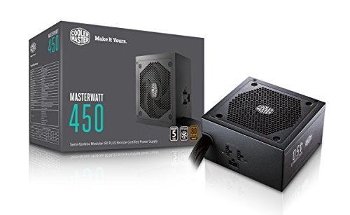 Cooler Master MasterWatt 450 EU PC Netzteil 'Semi-Fanless Modular