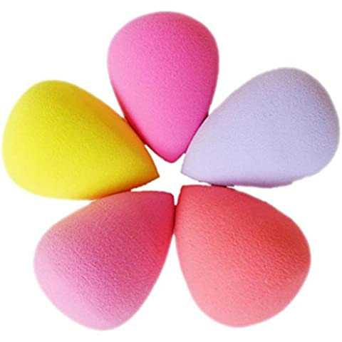 V-EWIGE Maquillaje calabazas esponja de la belleza del soplo suave calabaza de botella y la gota del agua (color al