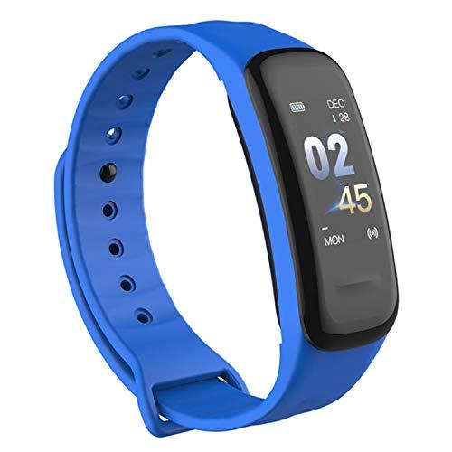 TechFort C1s Smart-Armband mit Farbdisplay, Fitness-Tracker, Blutdruck-Herzfrequenz-Monitor, Schlaf-Armband, wasserdicht, Messband - Garmin Gps-herzfrequenz-monitor