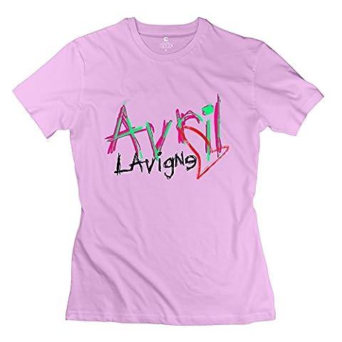 KFR Women's Tshirt Lavigne Singer Cross My Heart Size M Pink