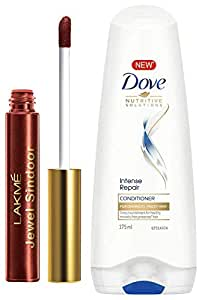 Lakme Jewel Sindoor, Maroon, 4.5ml & Dove Hair Therapy Intense Repair Conditioner, 175ml