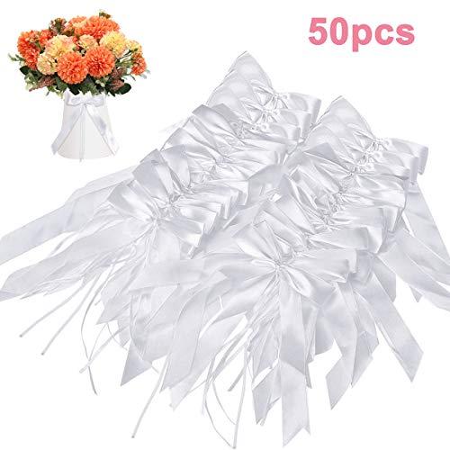 NATUCE 50PCS Lazo de seda, Decoración de la boda del arco, Arco...