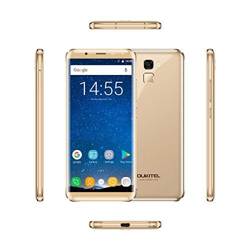 OUKITEL K5000 - 5 7 4G Smartphone Libres Pantalla Infinita Android 7 0 Octa Core 4GB 64GB 5000mAh C mara 21MP 16MP Sensor de Huella Dactilar D