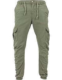Urban Classics - CARGO Twill Jogging Pants dark oliv - M