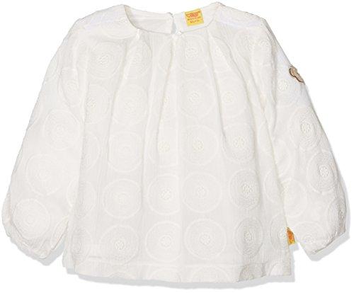 Steiff Baby-Mädchen Bluse Tunika 1/1 Arm 6712913, Weiß (Cloud Dancer 1610), 56 (Herstellergröße:56)