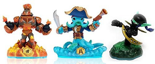 Skylanders Swap Force LOOSE Blast Zone, Wash Buckler, & Ninja Stealth Elf Set Includes Card Online Code by (Ninja Stealth)