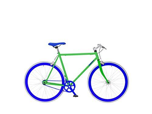 Coppi Fixed Scatto Fisso, taglia 57, acciaio, Verde/Bianco