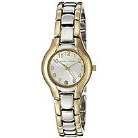 Anne Klein Women's Quartz Watch, Analog Display and Stainless Steel Strap 10-6777SVTT