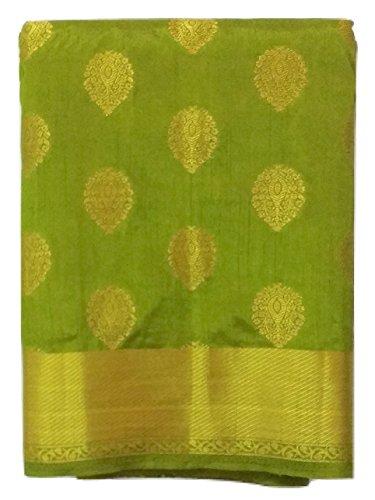 Weaves of Tradition Mangalam Tussar Silk Saree (Green)