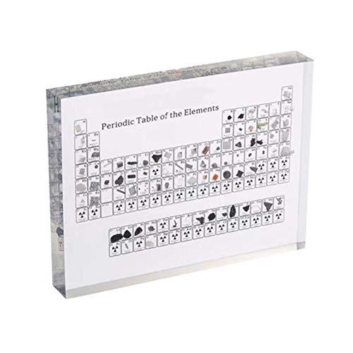 Das Acryl-Periodensystem zeigt die Anzeige des Kinderbildungsschullehrergeburtstagsgeschenk-Zyklus-Tabellen mit wahrem Elementtropfenverschiffen