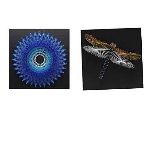 sharprepublic 2 Sätze Vogelnest Dragonfly String Art Kits Für Erwachsene Handwerk Home Wall Decor