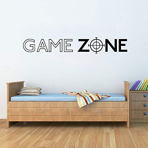 Ami0707 Game Zone Play PS3 PS4 Cita Arte de la Pared Pegatinas Calcomanías Decoración de la Puerta Decoración del hogar Pegatina Vinilo Mural Gamer Calcomanía Dormitorio 57X9 CM