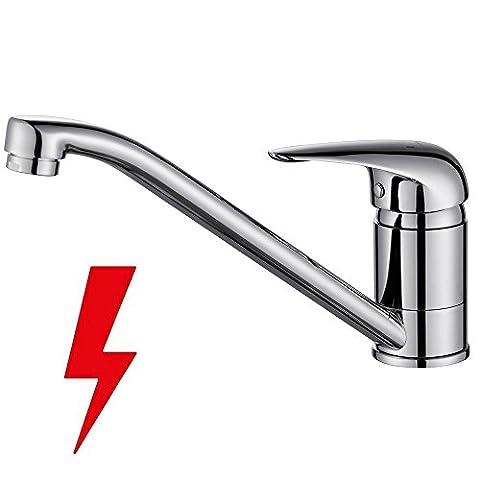 Homelody Chrom Wasserhahn Küche Niederdruck Armatur Küchearmatur Spüle Mischbatterie Einhebelmischer Spültischarmatur