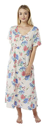 - 41nJWqglzxL - Ladies Long Plus Size Jersey Nightshirt in 3 Prints. Sizes 14-16 18-20 22-24 26-28 30-32