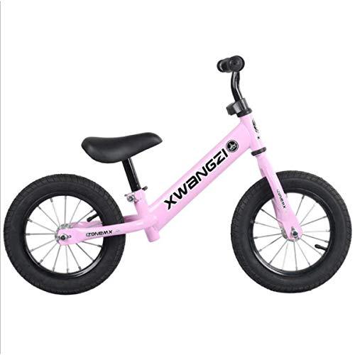 Huiiv 12 Zoll Laufrad für Kleinkinder und Kinder im Alter von 2, 3, 4 und 5 Jahren. Erste Trainingsräder ohne Pedale. Lernfahrrad für Jungen und Mädchen,Rosa