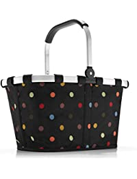 Carrybag à pois, Polyester, schwarz dots, 48 x 29 x 28 cm, One size