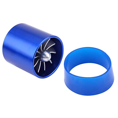 Turbonator d'Admission d'Air, Keenso Chargeur Superbe de Turbine de Fan de Ventilateur d'Alliage d'Aluminium de Voiture de 2,2\