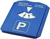 Disque de stationnement Stationnement pour Voiture avec jeton pour chariot, couteau à moulurer, Raclette en caoutchouc, Gratte-givre–Bleu