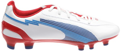 Puma Jr Evos 5 Fg, Chaussures de sport mixte enfant Blanc (1)