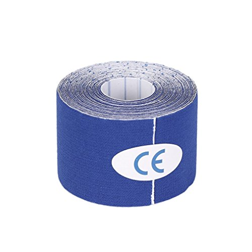 leoboone 1 Rolle 5cmx5m Mehrzweckwasserdichte Sport-elastische Band Kinesiologie Muskelschmerzen Pflege Therapeutische Antiallergisches Acrylkleber