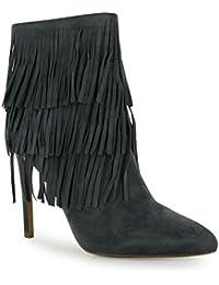 Steve Madden Garçonne Stiletto Bottes pour Femme Noir pour Femme Mode Chaussures, Noir