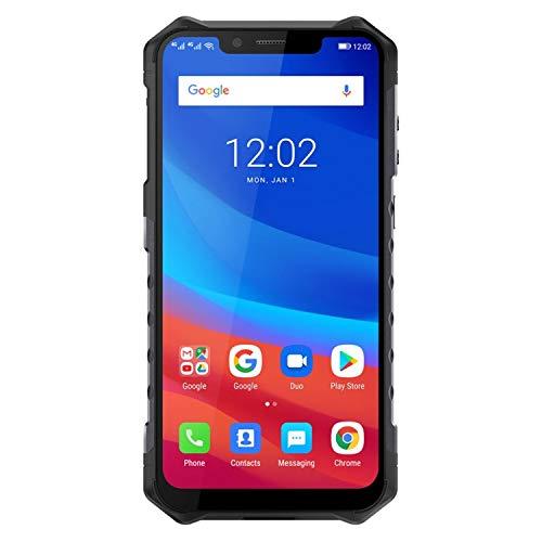 Ulefone Armor 3T, IP68 Smartphone Libre Resistente 4G Outdoor, Batería Grande 10300, IP69, WalkieTalkie, 5.7 Pantalla Grande 18:9, 4GB+64GB, Android 8.1, Doble SIM, OctaCore, Carga Rápida, NFC(Orange)