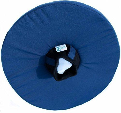 Tepaw Tier-Kragen - Premium-Leckschutz blau (Gr. 7) Halskrause für dein Haustier - Der patentierte Schutzkragen für kleine Katzen bis zum großen Hund
