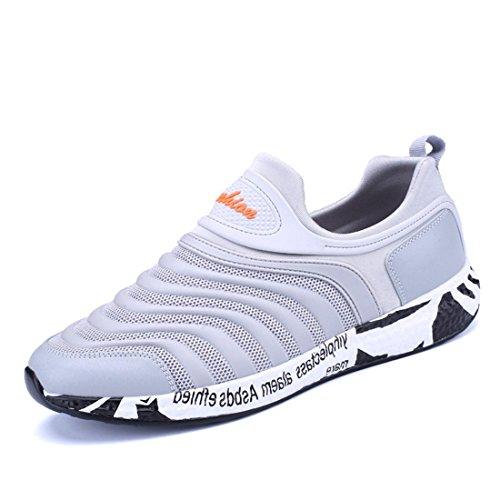 Uomo traspirante Scarpe casual Antiscivolo Scarpe di tela formatori Scarpe da ginnastica Scarpe da corsa All'aperto euro DIMENSIONE 39-44 White