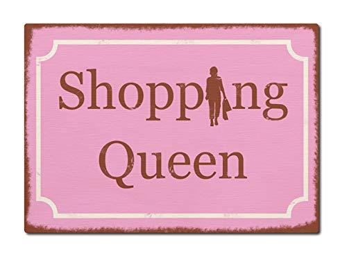 LUXECARDS Interluxe Postkarte aus Holz Shopping Queen Shabby Vintage Karte DIN A6