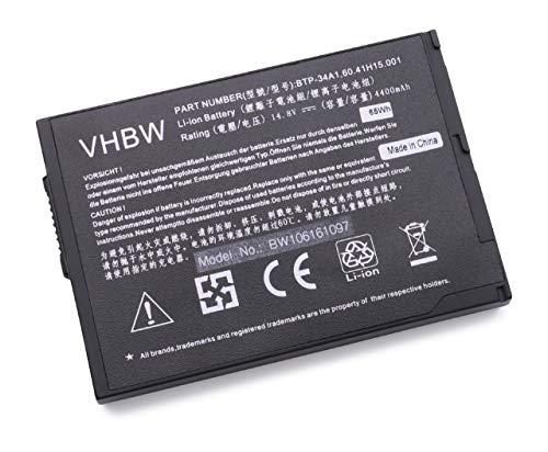 vhbw Batterie LI-ION 4400mAh 14.8V Noir Compatible pour Acer remplace BTP-34A1 / 60.41H15.001/91.41H28.001 / PC-AB6000 / PC-AB6000A / PC-6000AA