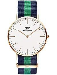 Daniel Wellington - Reloj Quartz para hombre Classic Warwick 0105DW, con correa de nylon