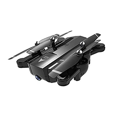Jersh? Remote Control Drone, 2019 SG900 2.4GHz 720P/1080P HD Camera WIFI FPV GPS Drone Four-Axis Folding Aircraft GPS Fixed-Point Surround Shooting Drone Intelligent Following Remote Control Aircraft