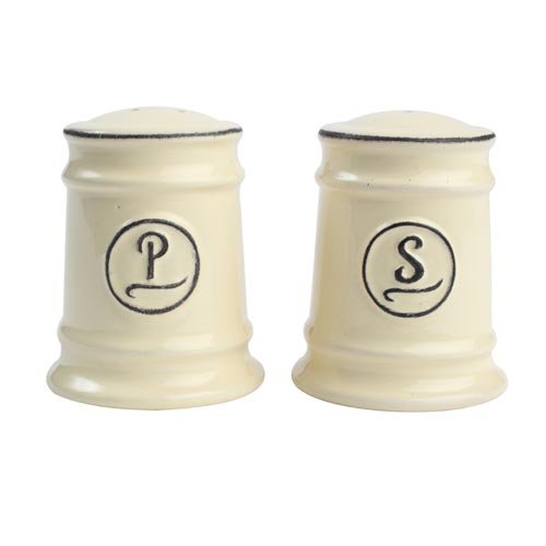T&G Woodware Pride of Place Salt and Pepper Shaker Set, Old Cream by T&G Woodware Salt Shaker Set