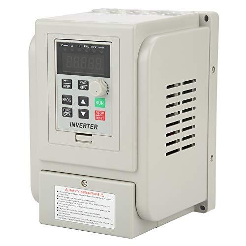 Bewinner 220 V AC Frequenzumrichter, Frequenzumrichter mit großem Kühlkörper, Wechselrichter Professioneller Frequenzumrichter für einphasigen 1,5-kW-Wechselstrommotor -